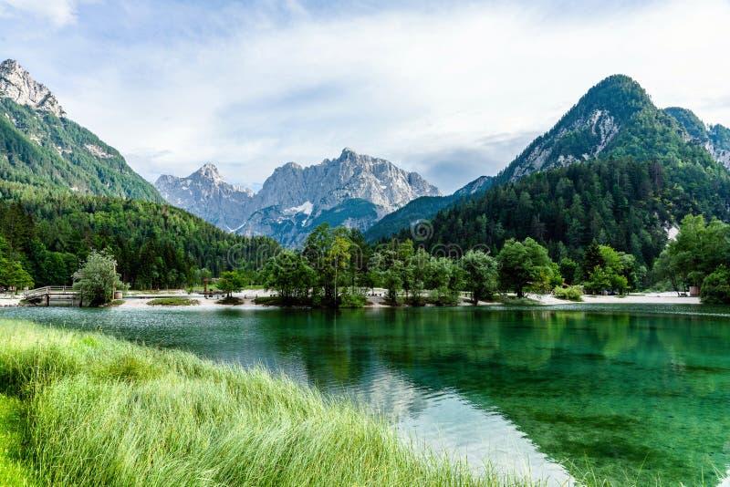 Vue scénique du lac de jasna image stock