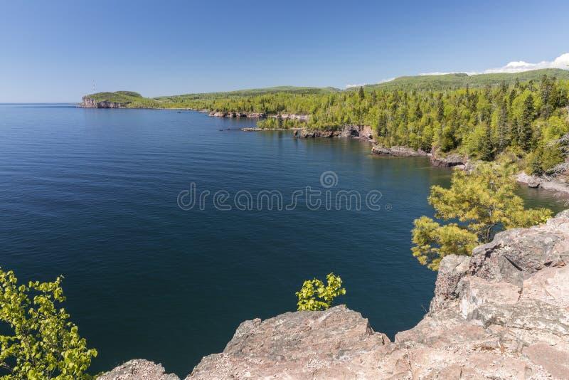 Vue scénique du lac Supérieur photographie stock