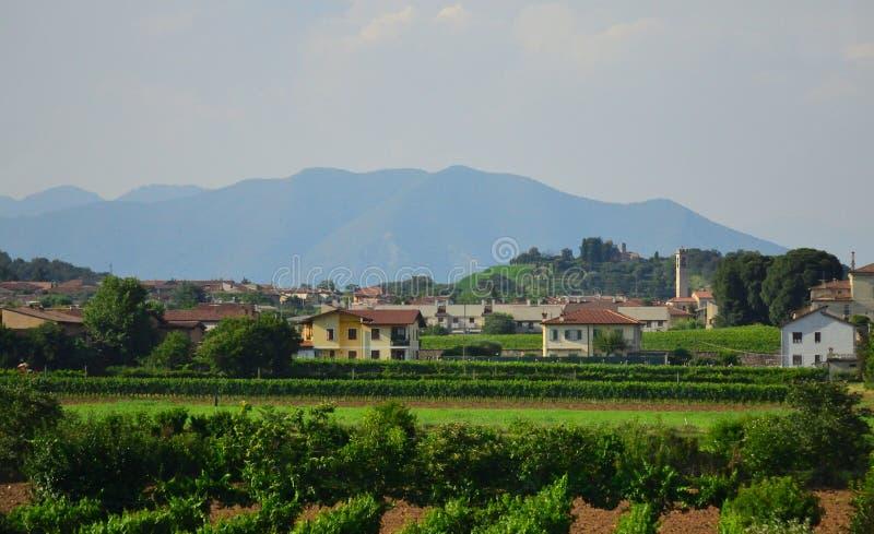 Vue scénique du nord Castelnuovo del Garda Vénétie de l'Italie photo libre de droits