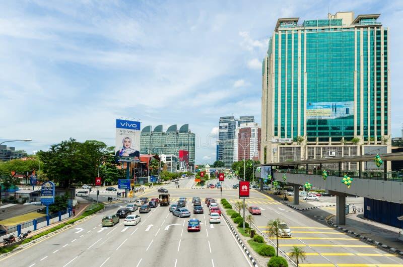 Vue scénique du paysage urbain en Kuala Lumpur, Malaisie photographie stock libre de droits