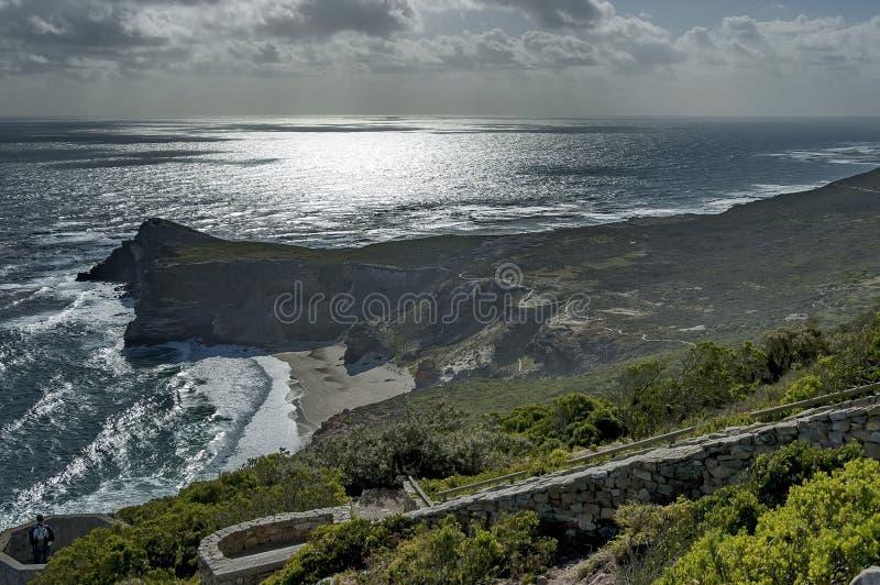 Vue scénique vers le Cap de Bonne-Espérance photographie stock