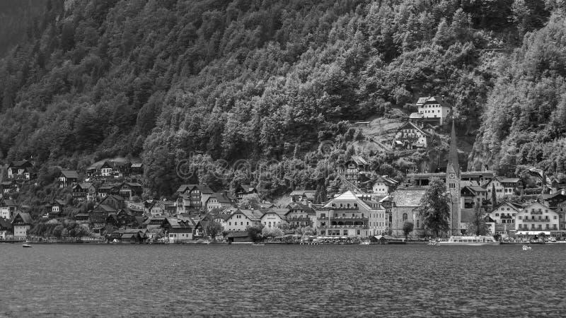 Vue sc?nique de village c?l?bre de Hallstatt en Autriche photos stock