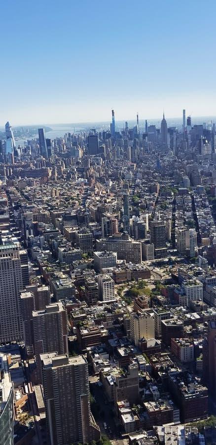 Vue Skyline Des Bâtiments De New York Depuis Le Haut photos stock