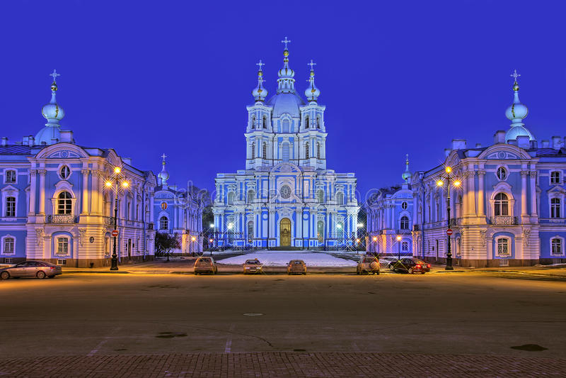 vue smolny de cathédrale image stock