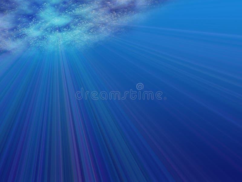 Vue sous-marine illustration libre de droits
