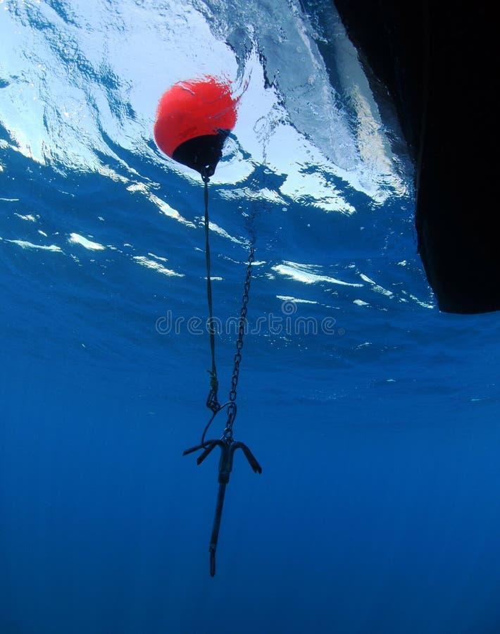 Vue sous-marine de point d'attache photos stock
