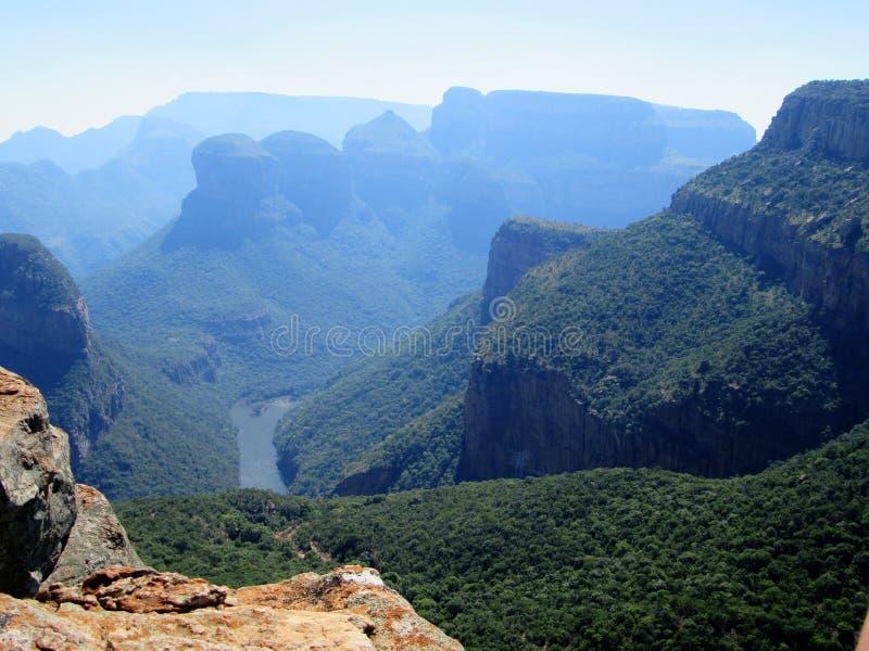 Vue spectaculaire de canyon de rivière de Blyde images stock