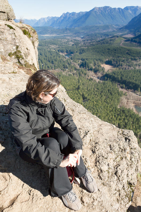 Vue spectaculaire de serpent à sonnettes Ledge Trail photographie stock libre de droits