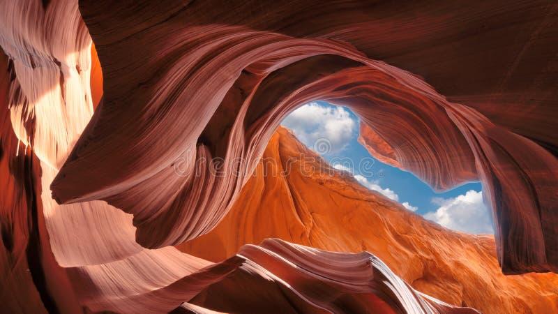 Vue spectaculaire du canyon d'antilope, Arizona photographie stock libre de droits