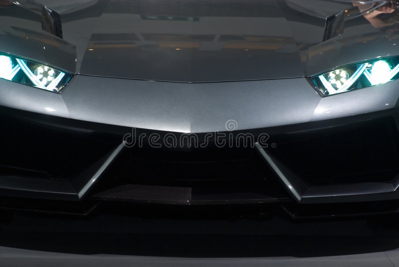 vue sportscar de luxe avant images stock