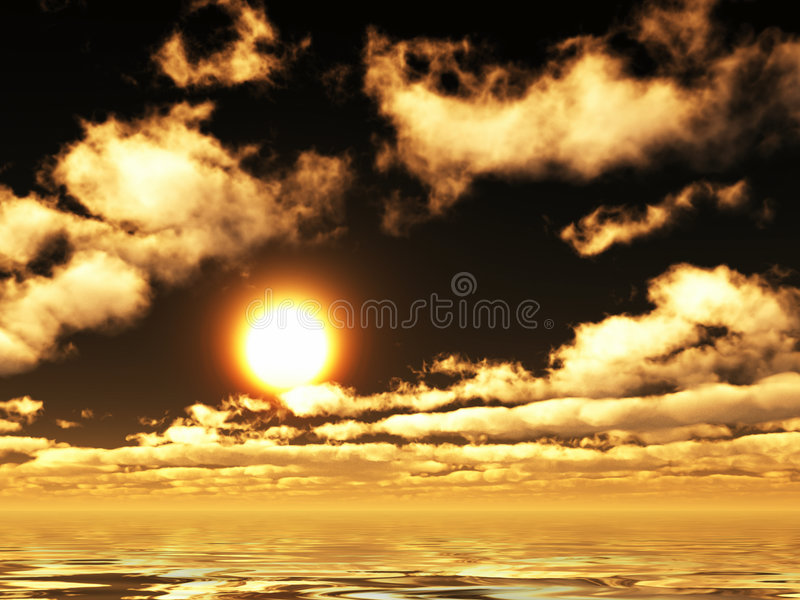 Vue sunset royalty free stock image