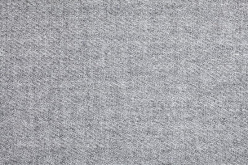 Vue supérieure au-dessus de texture grise de laine douce de textil image stock