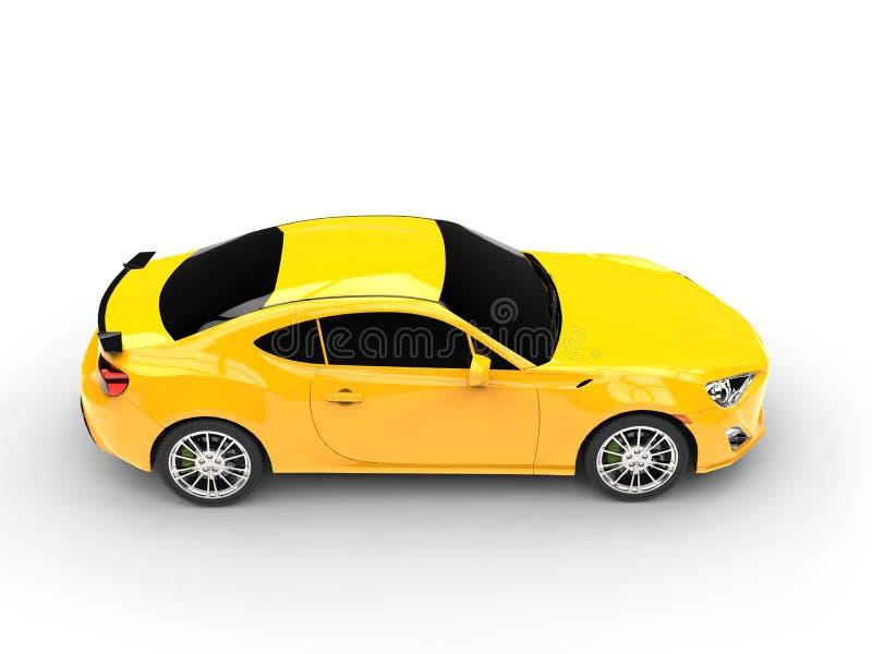 Vue supérieure automobile de sports jaunes génériques illustration stock
