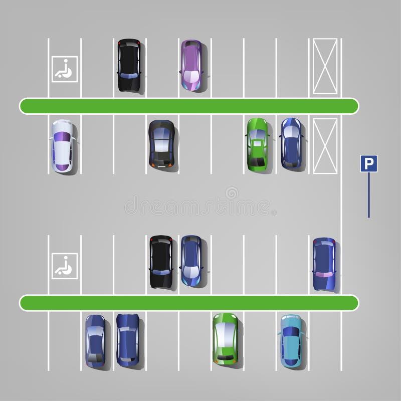 Download Vue Supérieure 01 C De Parking Illustration de Vecteur - Illustration du signe, contour: 76085113