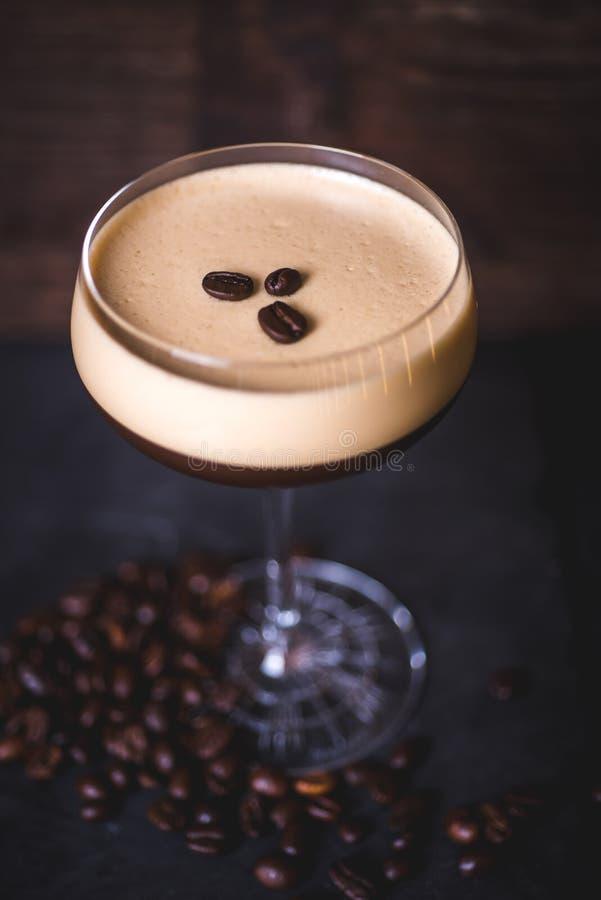 Vue supérieure d'un cocktail de café photographie stock libre de droits