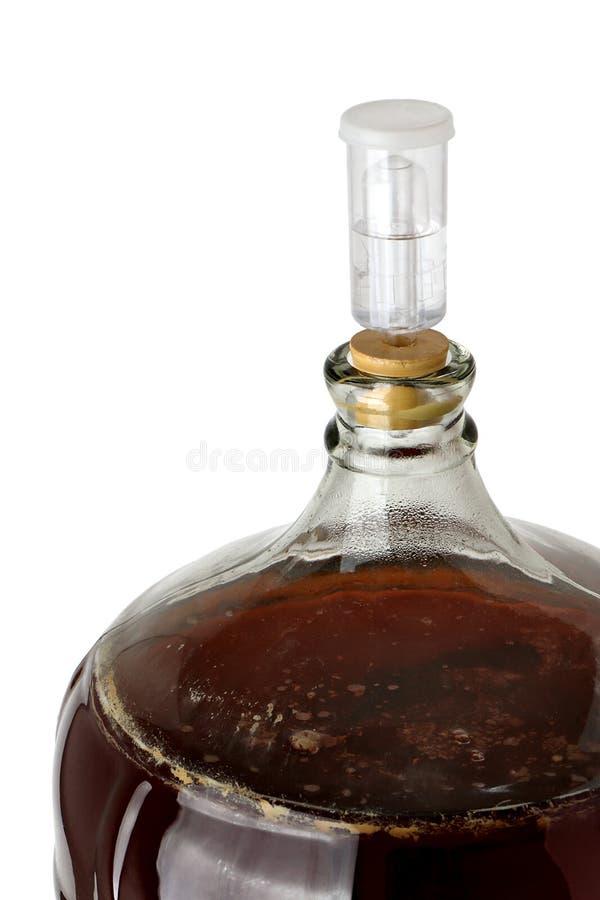 Vue supérieure d'une tourie de bière de brew à la maison de fermentation photo libre de droits