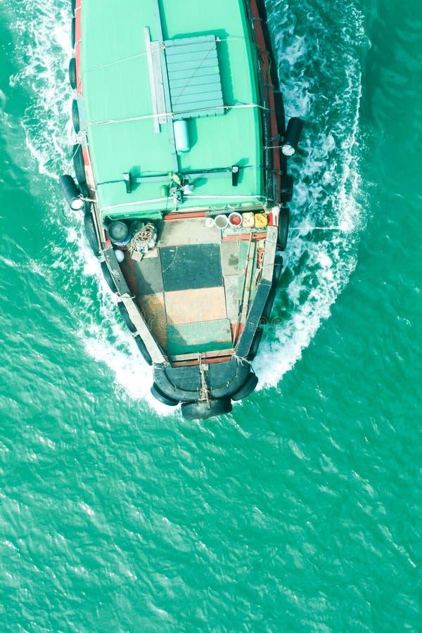 Vue supérieure de bateau photographie stock libre de droits