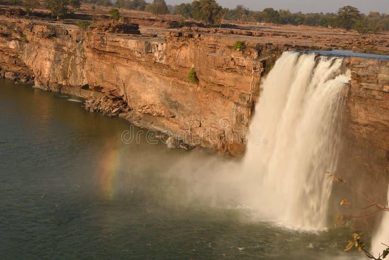 Vue supérieure de cascades de Chitrakote photographie stock libre de droits