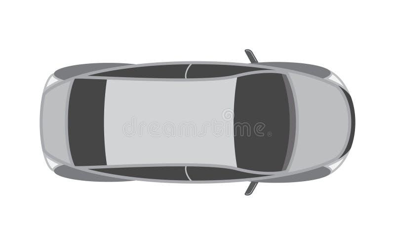 Vue supérieure de conception de voiture de sport illustration de vecteur