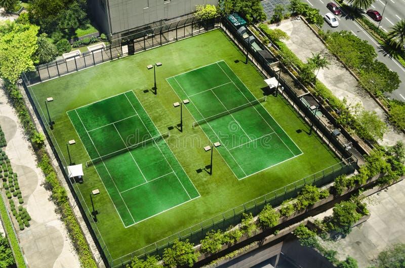 Vue supérieure de court de tennis photographie stock