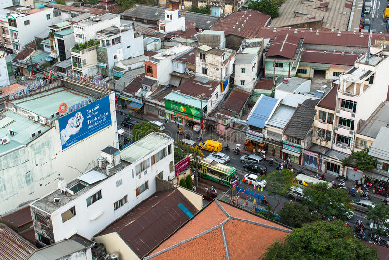 Vue supérieure de Ho Chi Minh City photo stock