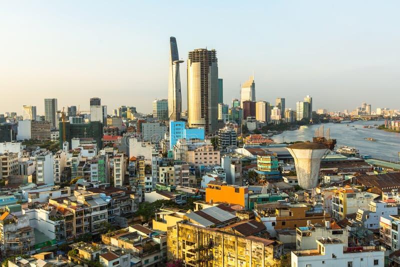 Vue supérieure de Ho Chi Minh City images stock