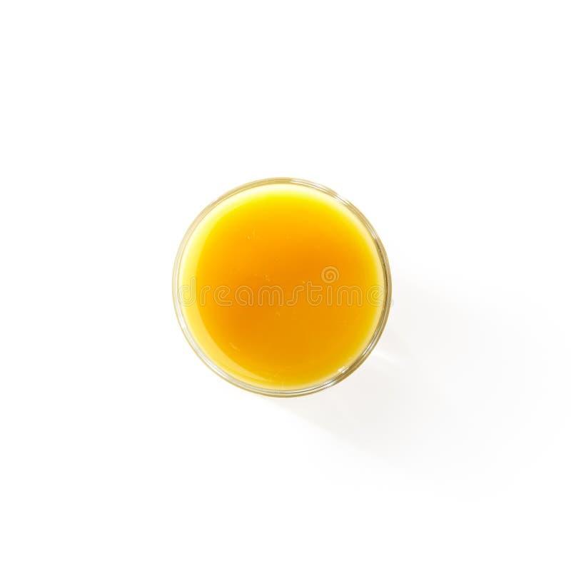 Vue supérieure de jus d'orange photographie stock libre de droits