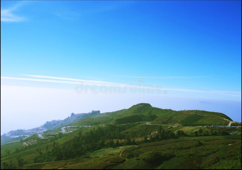 Vue supérieure de la montagne images stock