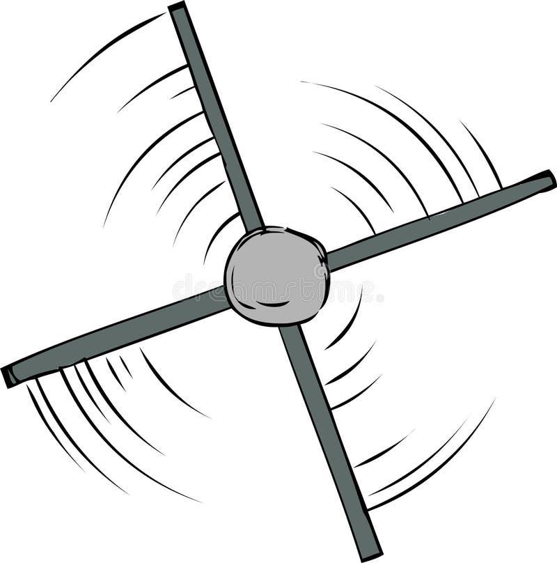 Vue supérieure de la rotation de propulseur illustration libre de droits