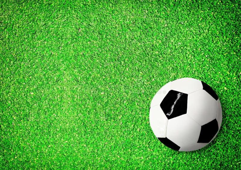 Vue supérieure de lancement et de ballon de football images libres de droits