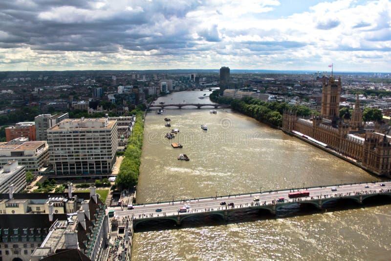 Vue supérieure de Londres photos libres de droits