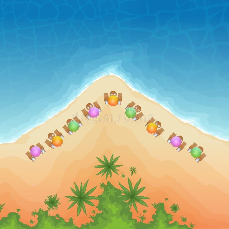 Vue supérieure de plage illustration libre de droits