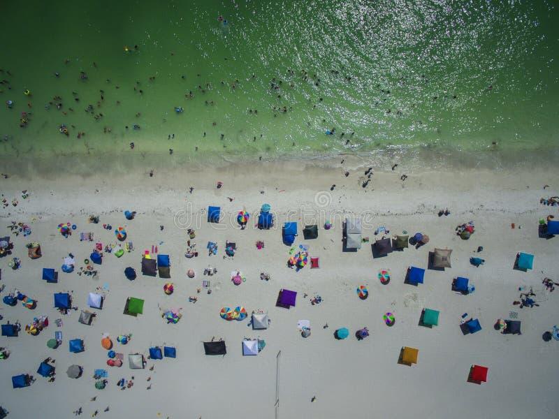 Vue supérieure de plage de la Floride photo stock