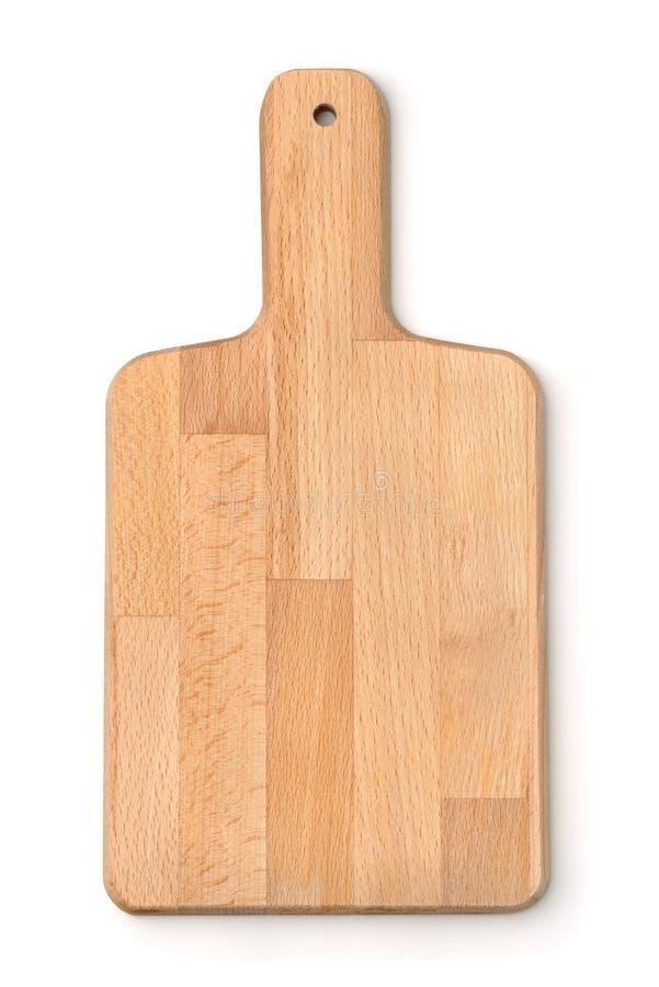Vue supérieure de planche à découper en bois image libre de droits