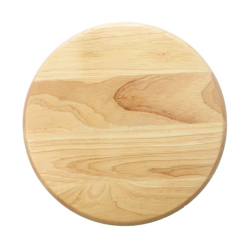 Vue supérieure de plat en bois sur le fond blanc photo libre de droits