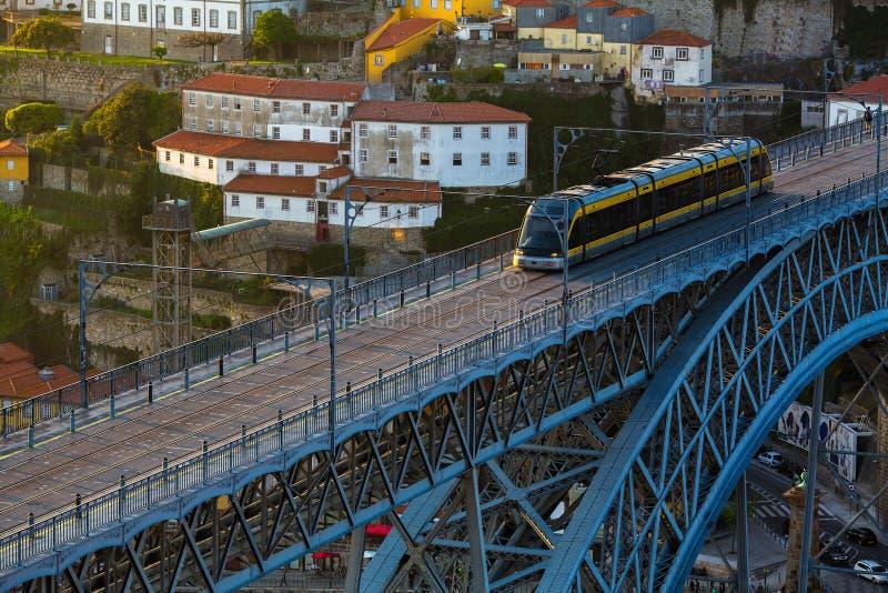 Vue supérieure de pont de Dom Luis I, Porto - Portugal Voyage photos libres de droits