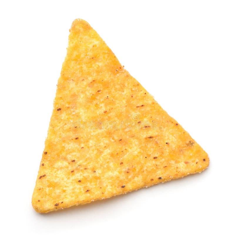 Vue supérieure de puce simple de nacho images stock