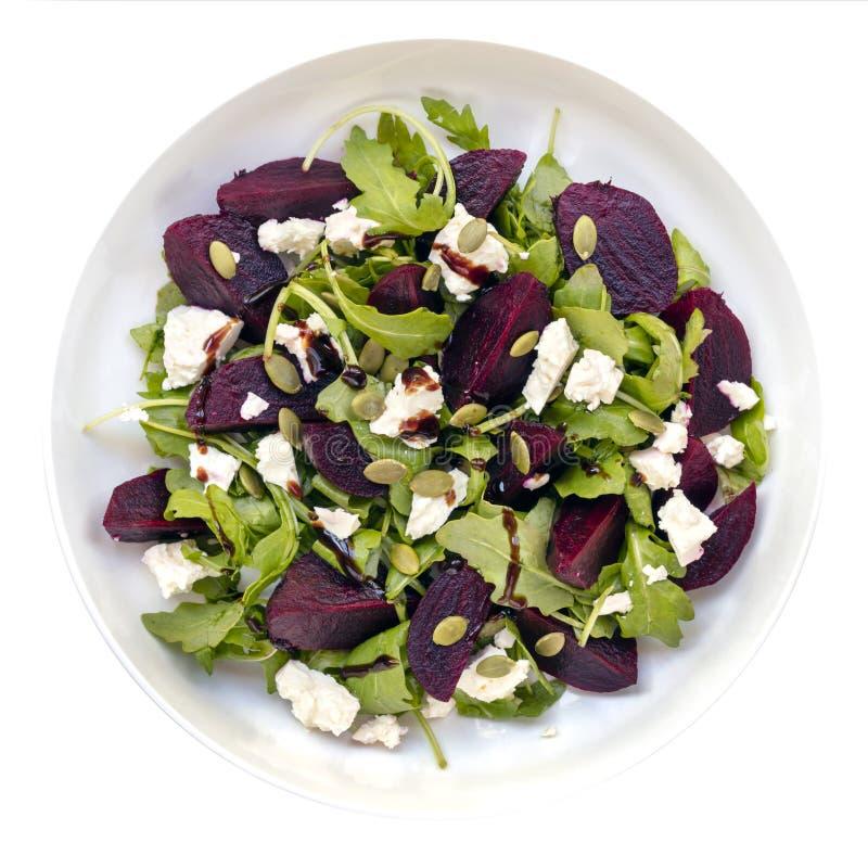 Vue supérieure de salade de betteraves images stock