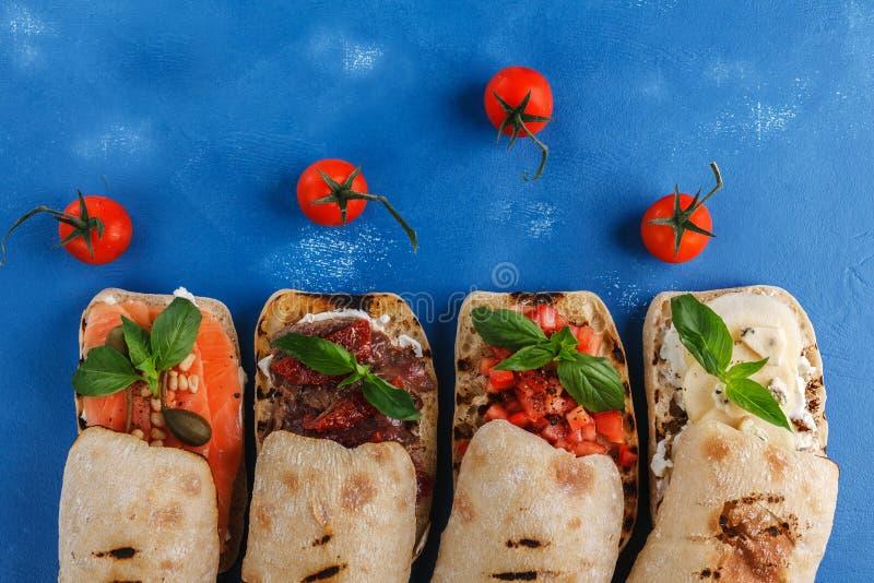 Vue supérieure de sandwich à Panini images stock