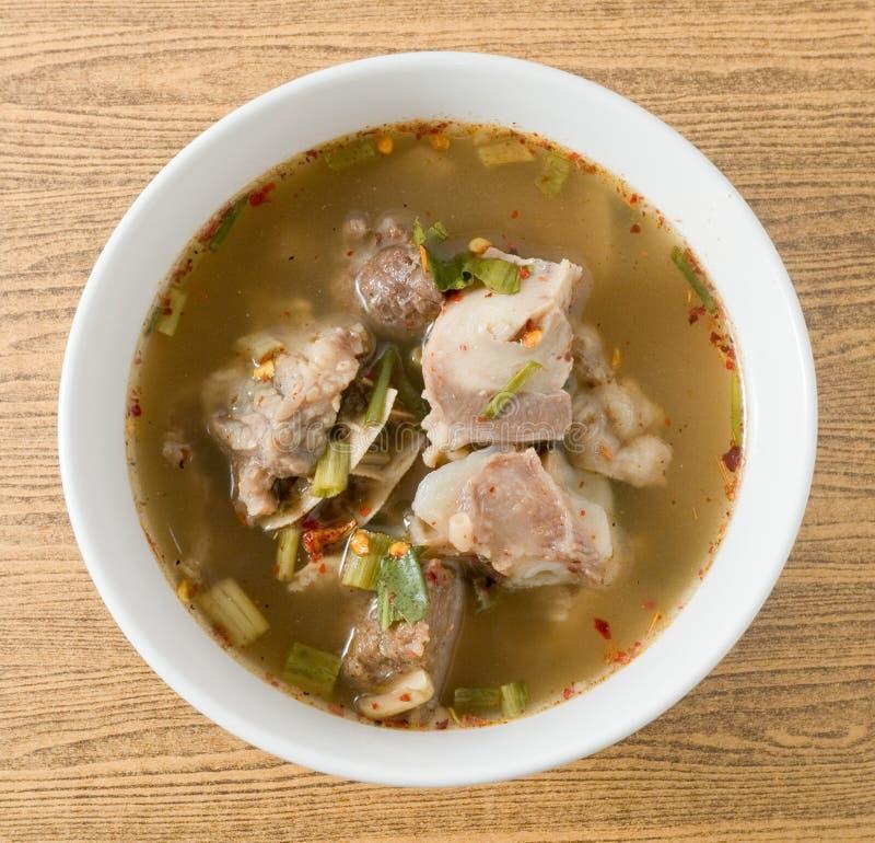 Download Vue Supérieure De Soupe épicée Thaïlandaise à Entrailles De Boeuf Image stock - Image du cuvette, poivron: 56489015