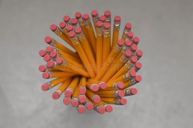 Vue supérieure de support de crayon photos stock
