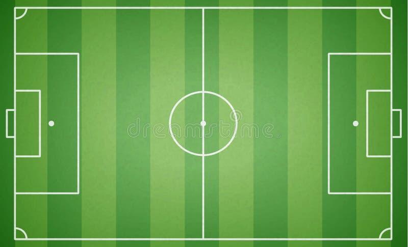 Vue supérieure de terrain de football Terrain de football texturisé Playgro vert illustration de vecteur