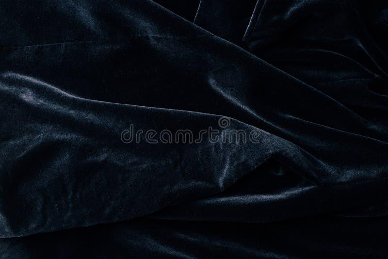 vue supérieure de textile noir de velours photos stock