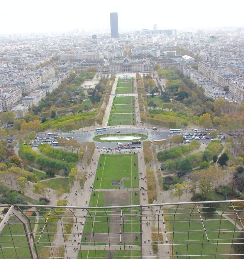 Vue supérieure de Tour Eiffel photos libres de droits