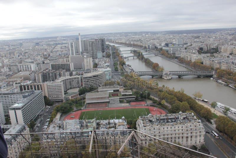 Vue supérieure de Tour Eiffel images stock