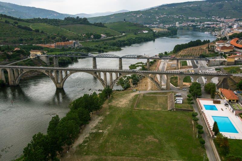 Vue supérieure de ville du DA Regua de peso, Portugal du nord nature photo libre de droits