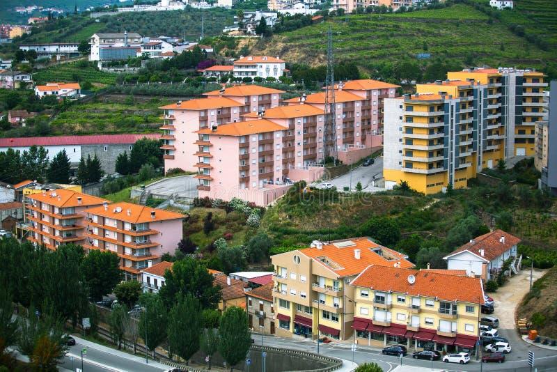 Vue supérieure de ville du DA Regua de peso, Portugal du nord Voyage photos stock