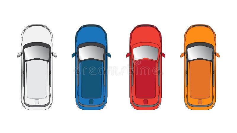 Vue supérieure de voiture de vecteur photographie stock