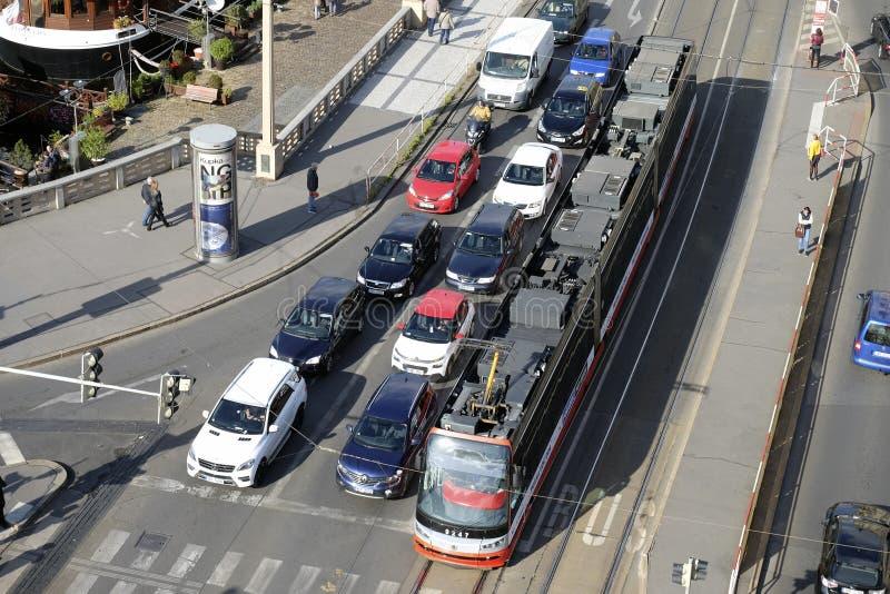 Vue supérieure des carrefours image stock