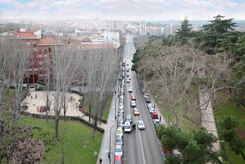 Vue supérieure du viaduc et de la ville photographie stock libre de droits